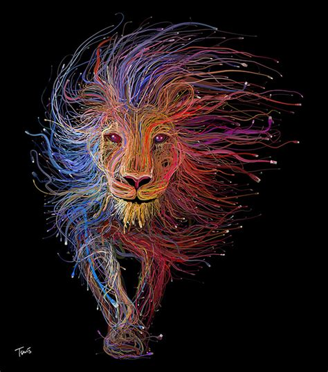 illustration the lion of lyon by charis tsevis ams