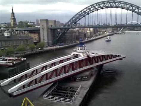 what is a swing bridge newcastle swing bridge opening youtube