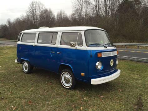 volkswagen vanagon blue seller of cars 1975 volkswagen vanagon blue