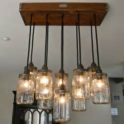 Candle Chandelier Lowes Handcrafted 14 Mason Jar Pendant Light Chandelier W Rustic