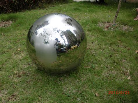 stainless steel garden sphere garden ideas