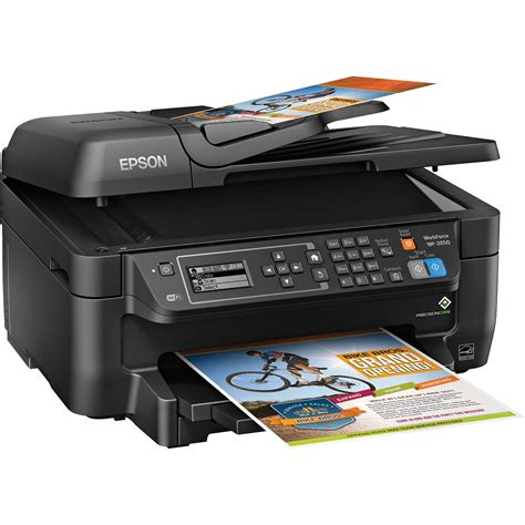 Printer Epson All In One Epson Workforce Wf 2650 All In One Inkjet Printer C11cd77201 B H