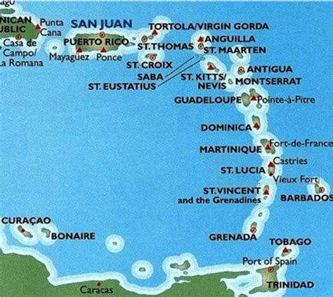 map of caribbean islands st jews of the caribbean islands