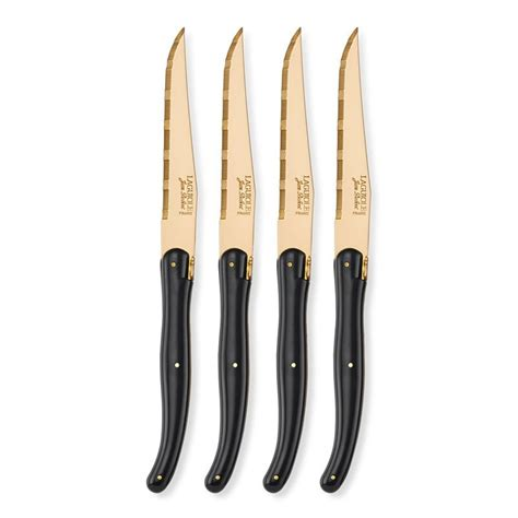laguiole steak knives laguiole jean dubost gold steak knives new age