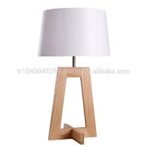 Angular wood table lamp handcrafted geometric design handmade wooden