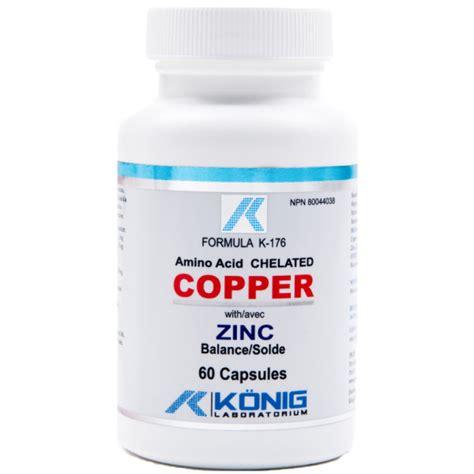 supplement zinc and copper copper with zinc 60 caps naturaheal ca