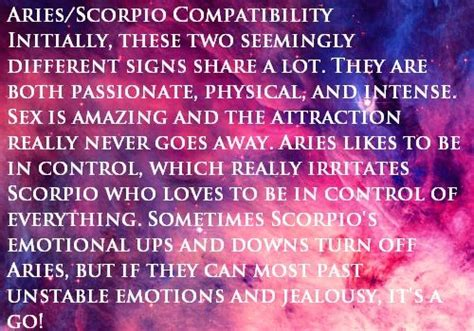 aries scorpio compatibility zodiology pinterest