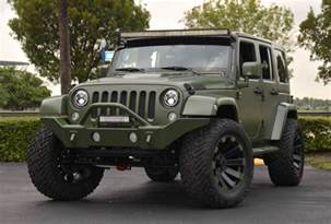 Matte Jeep Wrangler Spotlight Custom Matte Green Jeep Wrangler