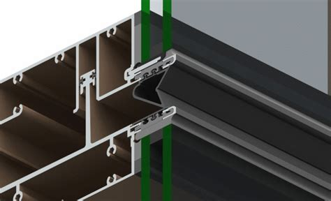 stack joint curtain wall series 168 curtain wall