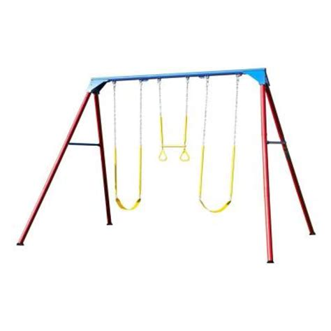 lifetime 10 ft a frame swing set primary colors 90200