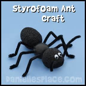 Ant craft styrofoam ant craft for kids from www daniellesplace com