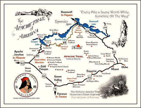 apache trail map road trip 4x4 los angeles san francisco passage par