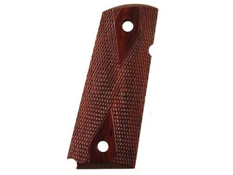 chip mccormick grips 1911 officer checkered rosewood
