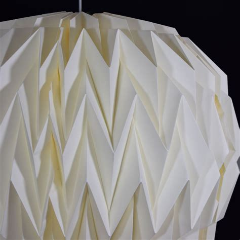 Folding Paper Lanterns - beige ivory geometrical shaped folding paper
