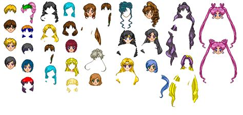 hair template ssmu hair template by sailormoonparadise on deviantart