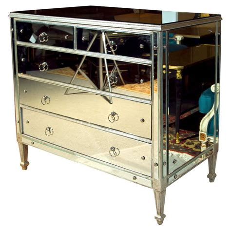 silver chest of drawers vintage silver leaf with mirrored chest of drawers at 1stdibs
