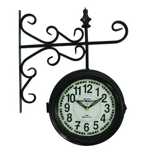 yosemite home decor 16 in double sided iron wall clock in yosemite home decor 16 in double sided iron wall clock in