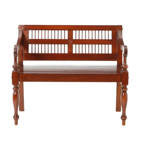 home decorators bench home decorators collection mahogany bench bc9244 the