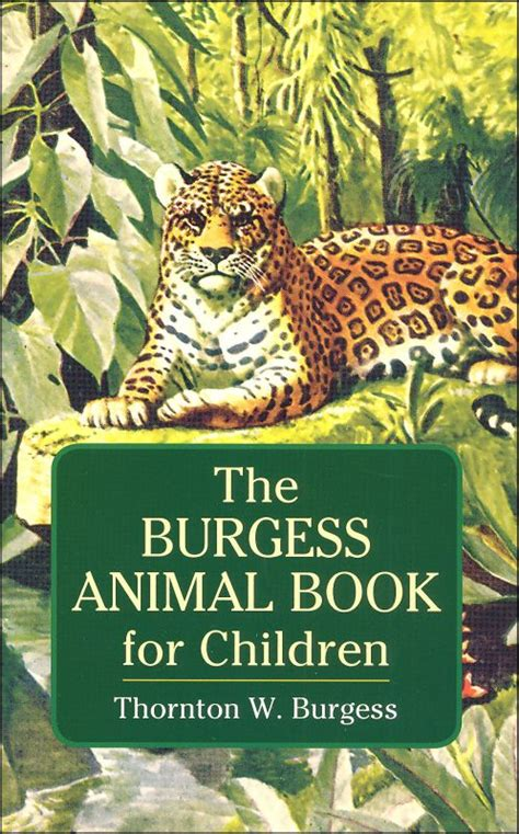 burgess animal book for children 032286 details