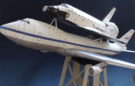 Space Shuttle Papercraft - boeing 747 shuttle carrier aircraft sca free aircraft