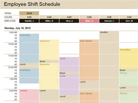 Production Schedule Template Microsoft Excel Templates Microsoft Excel Employee Schedule Template