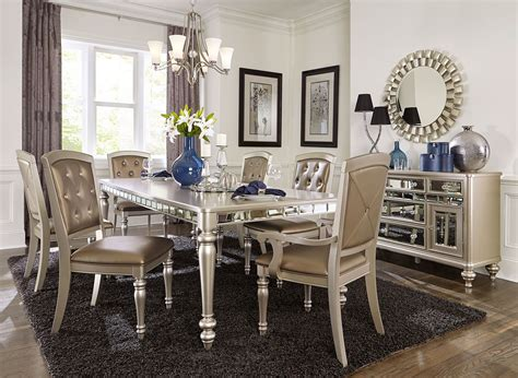 mirrored dining room table arsenia mirrored dining room furniture set