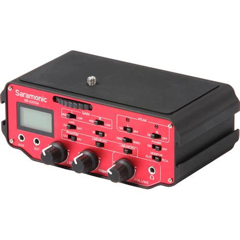 Saramonic Sr Ax104 Active Xlr Audio Adapter For Dslr saramonic saramonic sr ax104 2 channel xlr audio sr ax104 b h