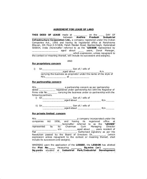 Land Lease Template 7 Free Word Pdf Documents Download Free Premium Templates Sle Property Lease Agreement Template