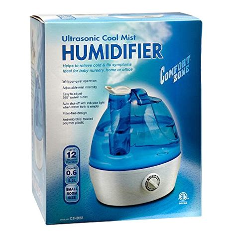 Comfort Zone Humidifier by Comfort Zone Ultrasonic Anti Microbial Soothing Cool