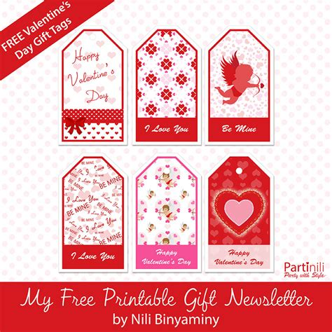 printable gift tags for valentines printable gift tags