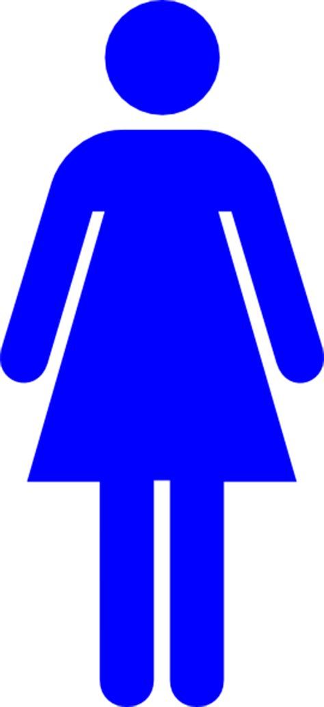 female bathroom symbol blue female restroom symbol clip art at clker com vector