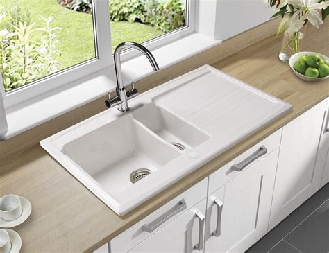 Kitchen Ceramic Sinks Astracast Equinox 1 5 Bowl White Ceramic Inset Kitchen Sink Eq15whhomesk