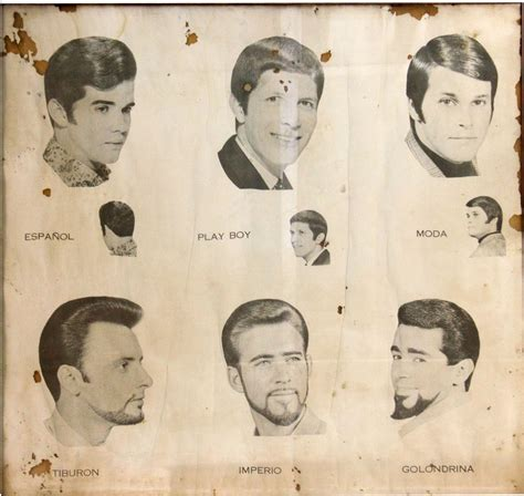 vintage haircut chart weird beards vintage barbershop posters from guatemala