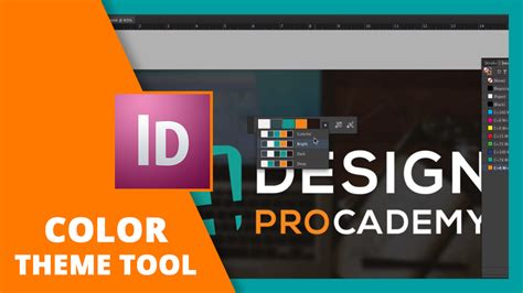 indesign s colour theme tool indesign get to know the color theme tool learn