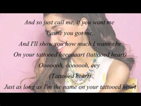 tattooed heart lyrics by ariana grande ariana grande tattooed heart lyrics youtube