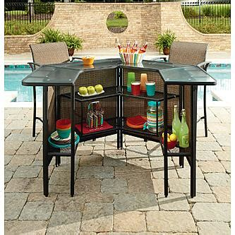Outdoor Patio Furniture Bar Sets Garden Oasis Harrison 5 Pc Outdoor Bar Set