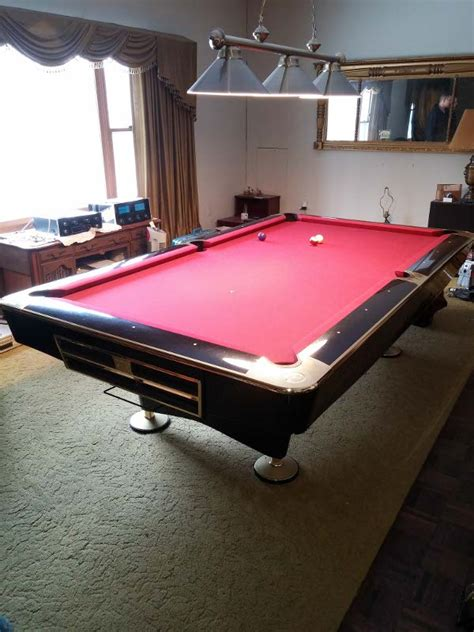 gold crown pool table 8 brunswick gold crown iv for sale in piano black