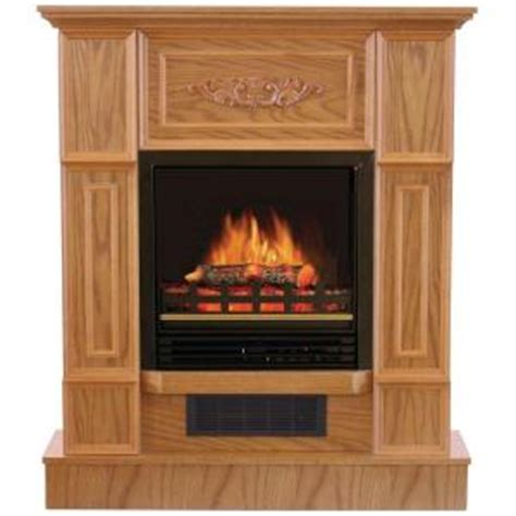 quality craft fireplace quality craft 32 in electric fireplace in oak mm624