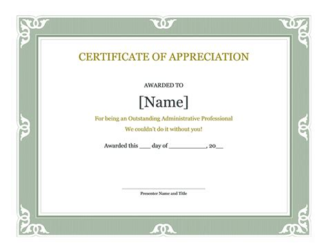 certificate of appreciation for teachers template certificate of appreciation template new