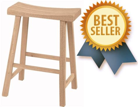 Unfinished Saddle Stool 24 by Unfinished Furniture Solid Wood Furniture Ready To