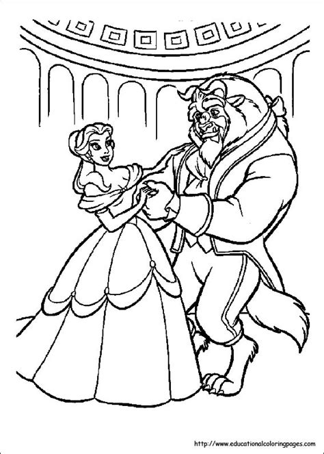 printable coloring pictures of beauty and the beast beauty and beast coloring pages free for kids