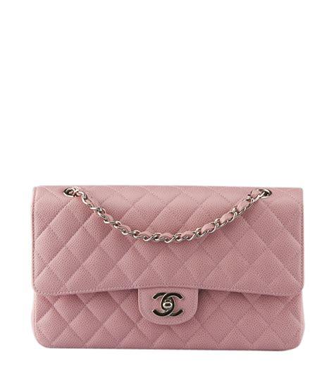Chanel Petal Pink Quilted Leather Shoulder Bag by Chanel A01112 Pink Caviar Quilted Lambskin Leather