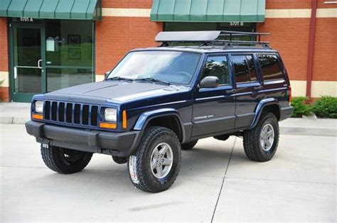 linex jeep blue buy used 2001 jeep cherokee xj sport lifted new lift