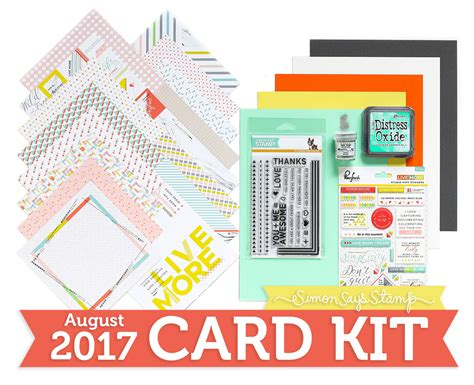 card kit together simon says st august card kit reveal and