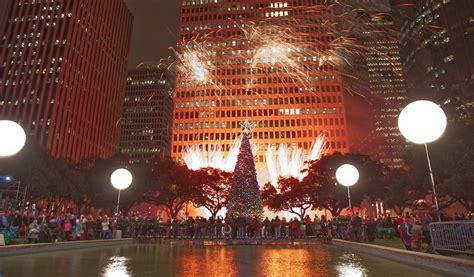 mayors christmas tree lighting houston  houston