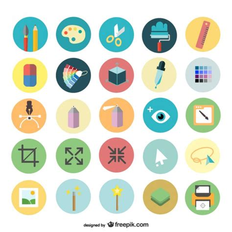 design icon online art design icons set vector free download