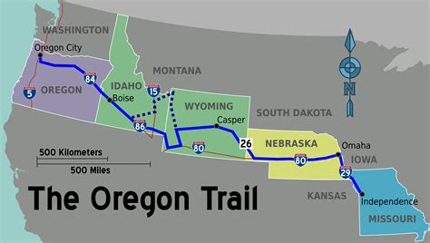 the oregon trail map file oregon trail wikivoyage map png wikimedia commons