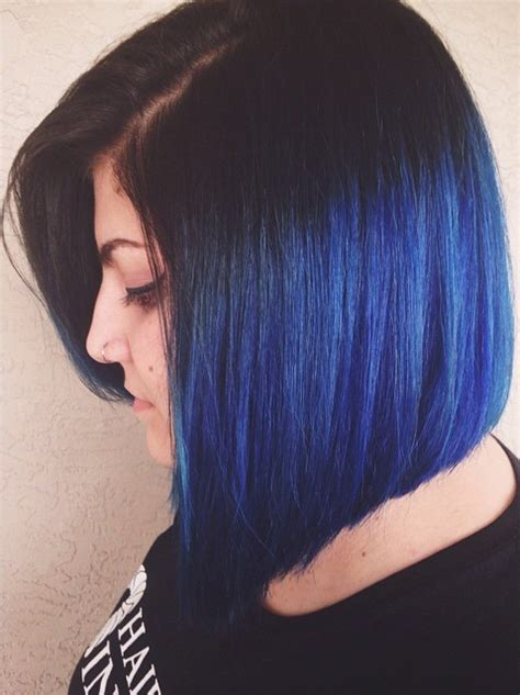 dyed bobs blue pravana dye bob hair make up pinterest bobs