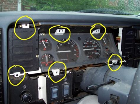 service manual how to remove cluster in a 1996 eagle summit dash board removal replacement