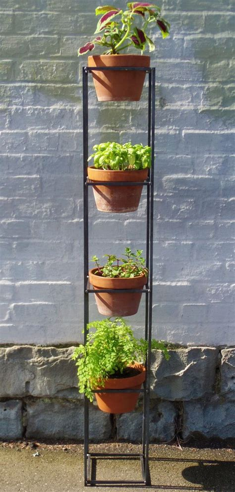Vertical Garden Stand Vertical Garden A Steel Plant Stand For Both Indoor And